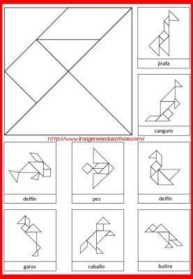 Tangram Figuras Para Imprimir 2 Atividades De Geometria Ideias