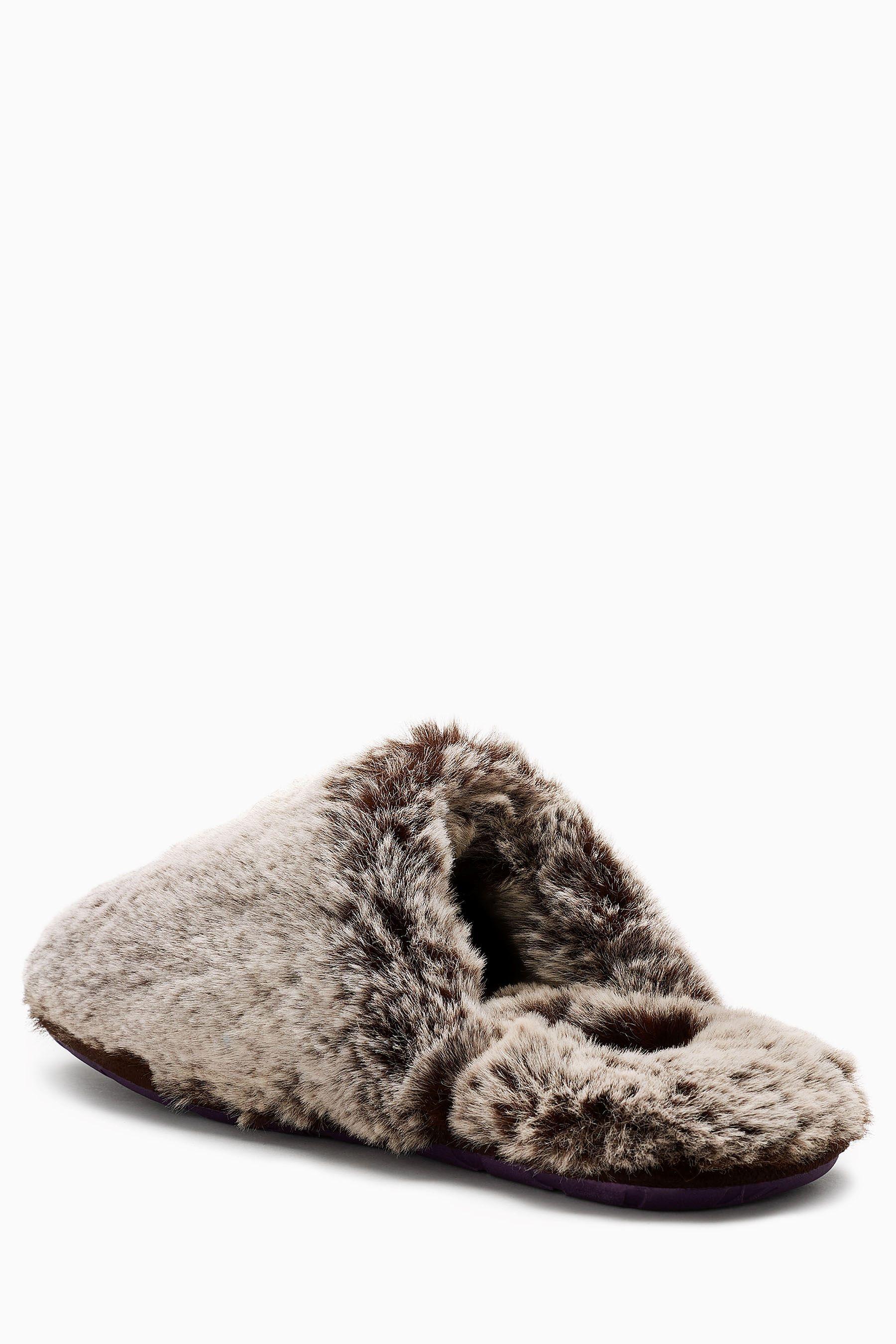 7ae2b9e63 Buy Ted Baker Grey Faux Fur Nnyah Mule Slipper from the Next UK online shop