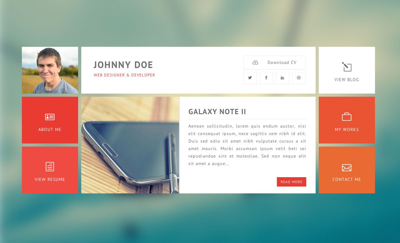 Free One Page Templates  Bootstrap Resume Template