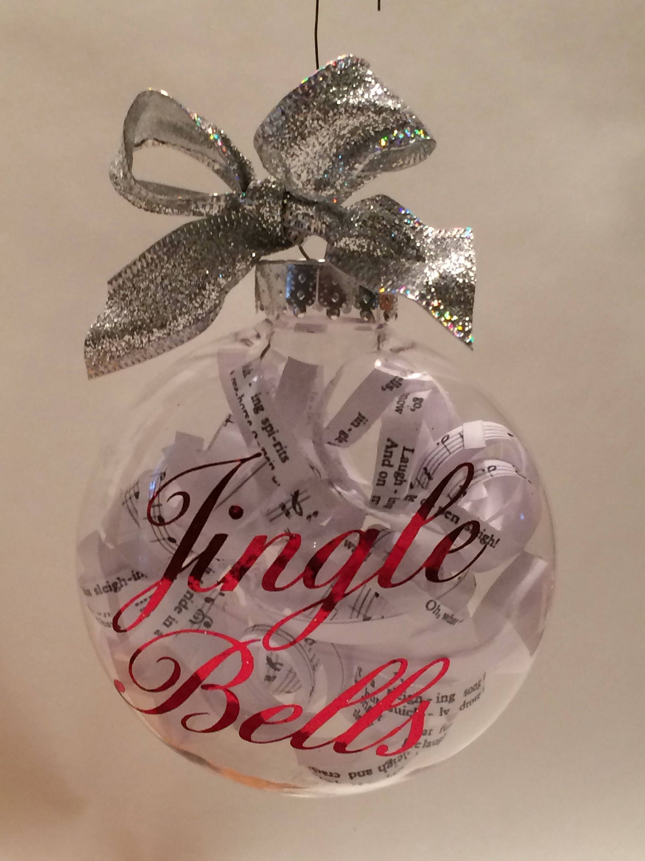 Silver Bells Christmas Decorations Jingle Bells Christmas Ornament  Christmas Music Ornament
