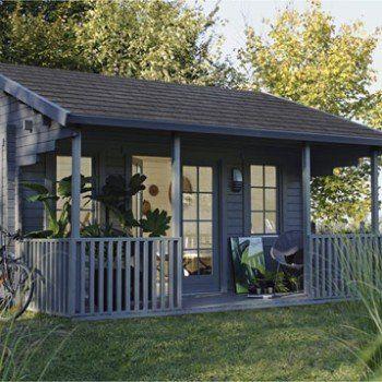 Abri de jardin bois Samara, 1747 m² Ep44 mm Leroy Merlin - construire un cabanon de jardin en bois