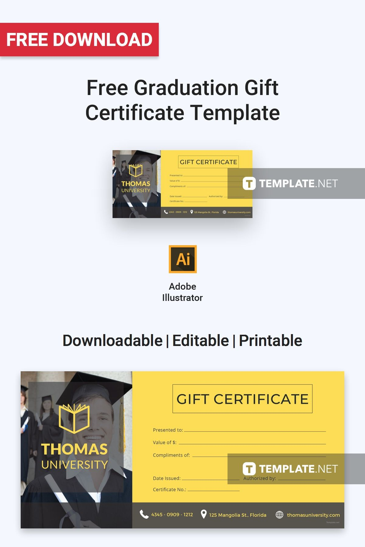 Free graduation gift certificate gift certificate template gift free graduation gift certificate gift certificate template gift certificates and certificate yelopaper Images
