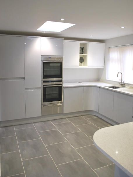 Best Remo Dove Grey White Kitchens By Dexter Open Plan 400 x 300