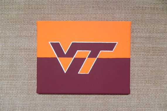 Virginia Tech Canvas Wall Art And Decor On Etsy Tech Inspiration Virginia Tech Fathers Day Crafts