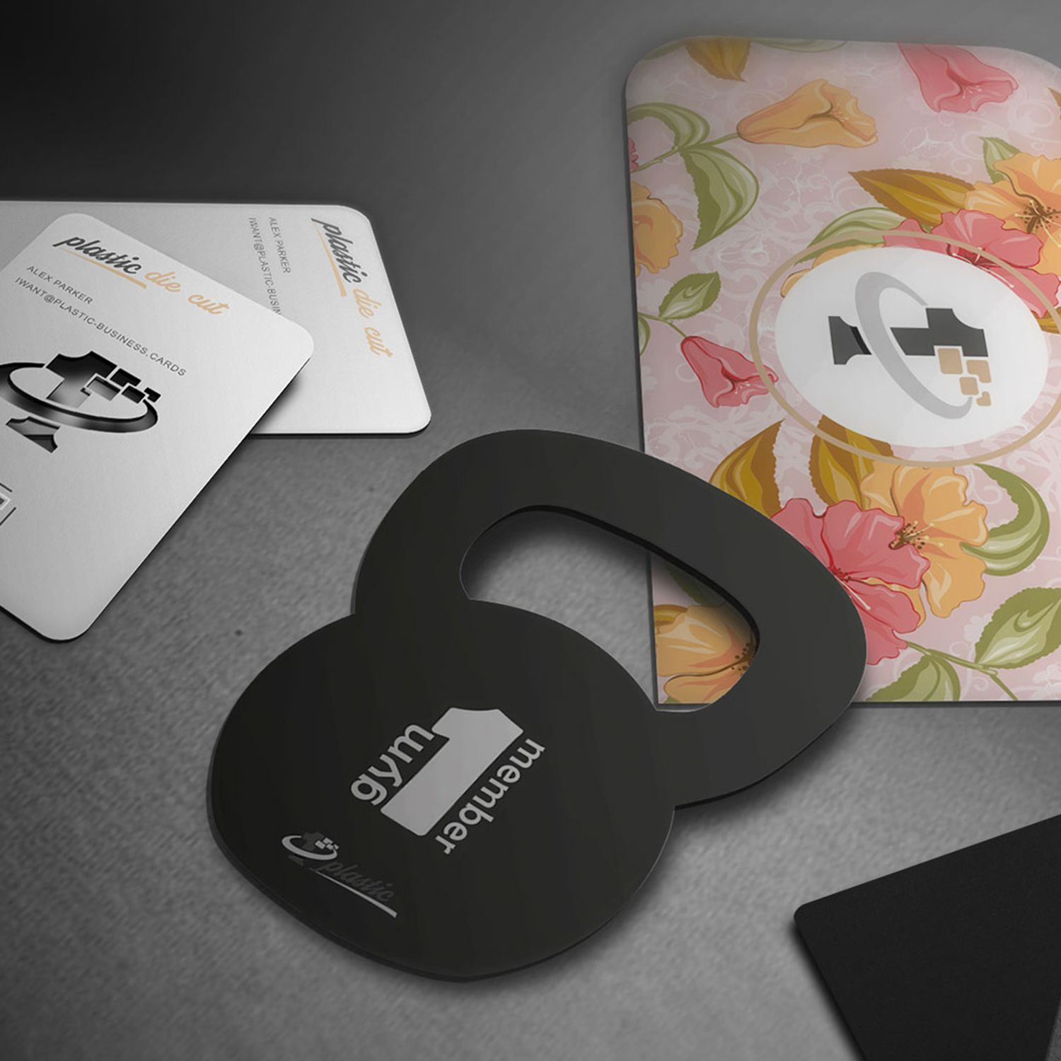 cut plastic business cards —custom cut plastic business
