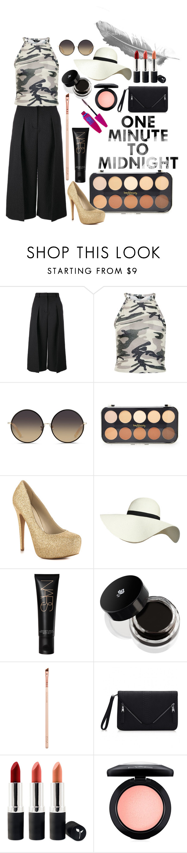 """""""camonochrome"""" by bilqis-safira-bela-ii ❤ liked on Polyvore featuring Erdem, New Look, Matthew Williamson, Forever 21, ALDO, Pilot, Lancôme, Terre Mère, MAC Cosmetics and Maybelline"""
