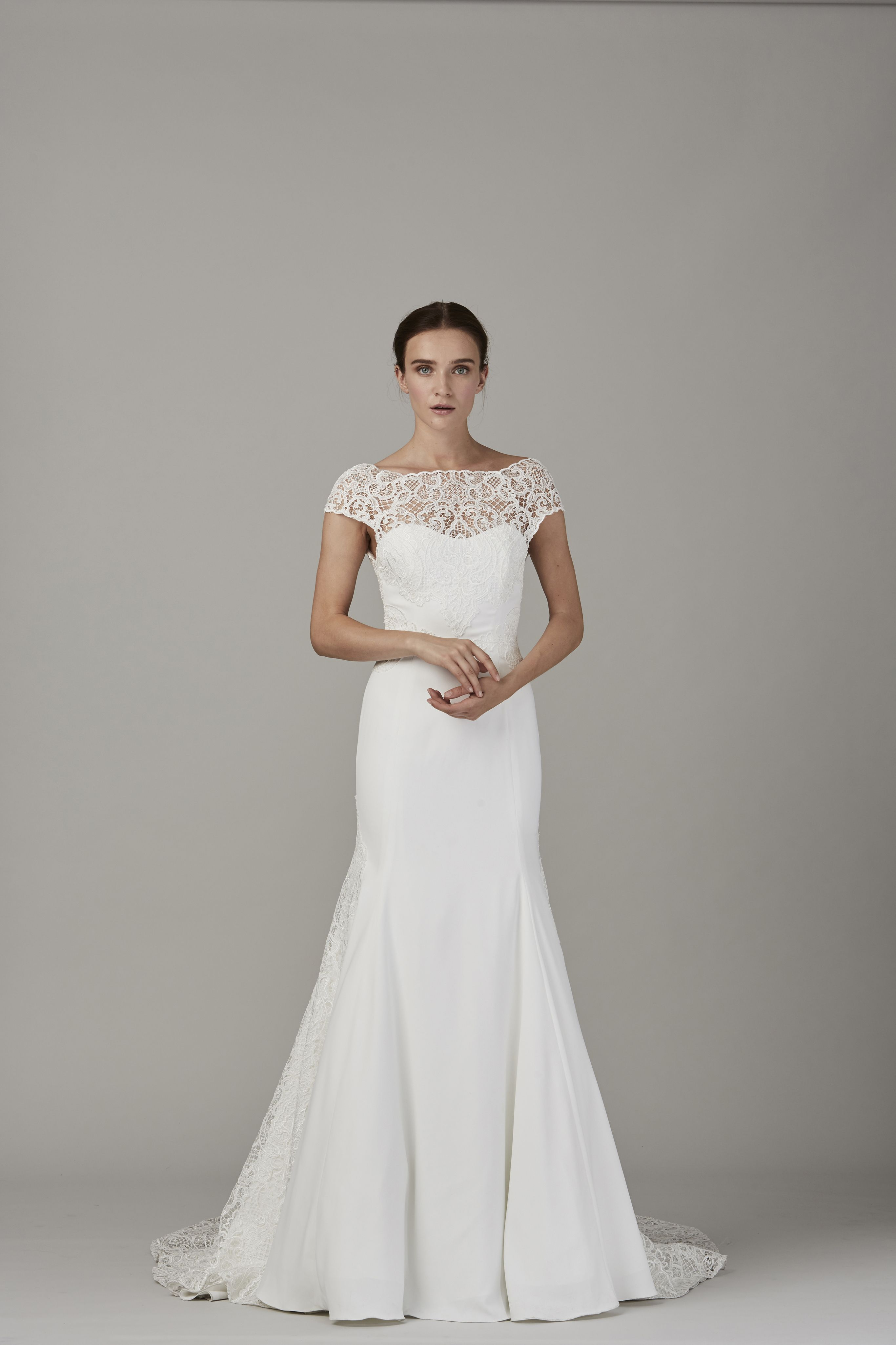 Strapless fitted lace wedding dresses  Mermaid strapless wedding dress Fitted wedding dresses with lace