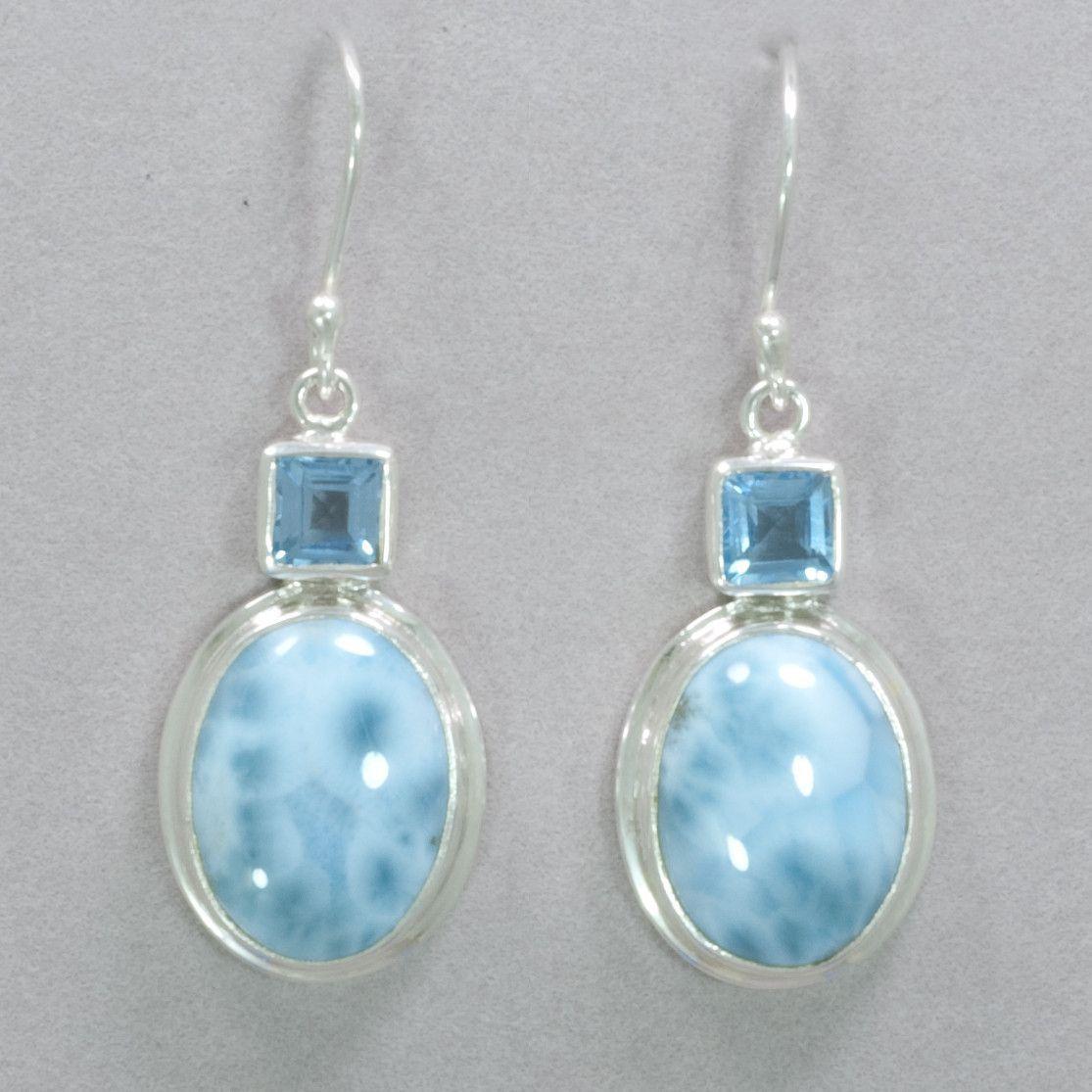 0de659a5c Larimar and Blue Topaz Earrings Topaz Earrings, Rainbow Bridge, White  Patterns, Blue Topaz