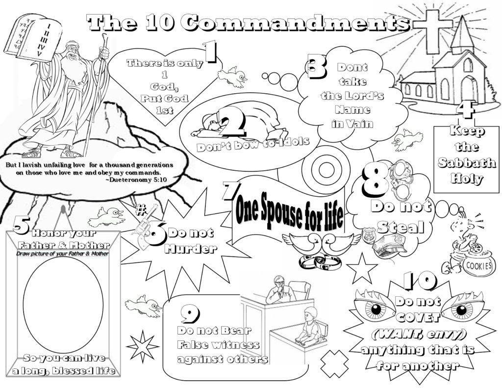 Ten Commandments Coloring Pages Best Coloring Pages For Kids Ten Commandments Kids Sunday School Coloring Pages Bible Coloring Pages