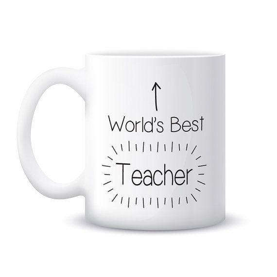 World S Best Teacher Mug End Of Term Gift By Ellieellieltd Mug