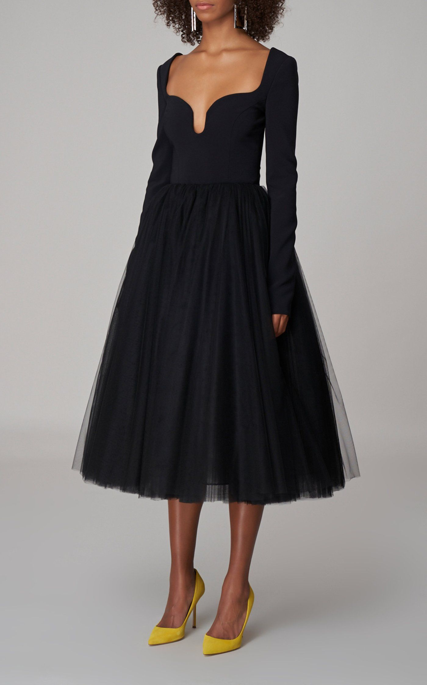 Stretch Crepe Midi Dress By Carolina Herrera Moda Operandi In 2021 Carolina Herrera Dresses Dresses Fashion [ 2243 x 1400 Pixel ]