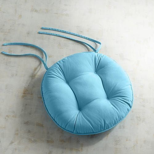 Round Bistro Dining Cushion In Cabana Turquoise Round Seat Cushions Bistro Chairs Industrial Style Dining Chairs