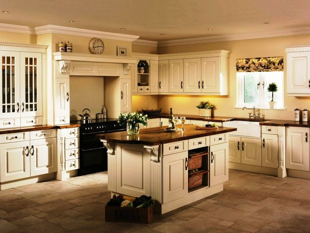 Image result for cream colored cabinets with brown glaze ...