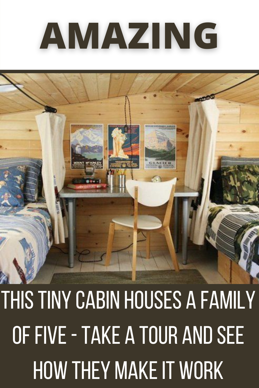 This Tiny Cabin Houses A Family Five Take A Tour And See How They Make It Work