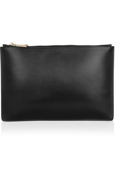 Jil Sander Leather clutch mdEwY2F6