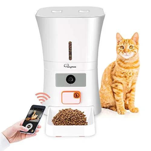 Skymee 8l Wifi Pet Feeder Automatic Food Dispenser For Cats Dogs Best Offer Petsep Com Pet Feeder Pet Camera Treat Dispenser
