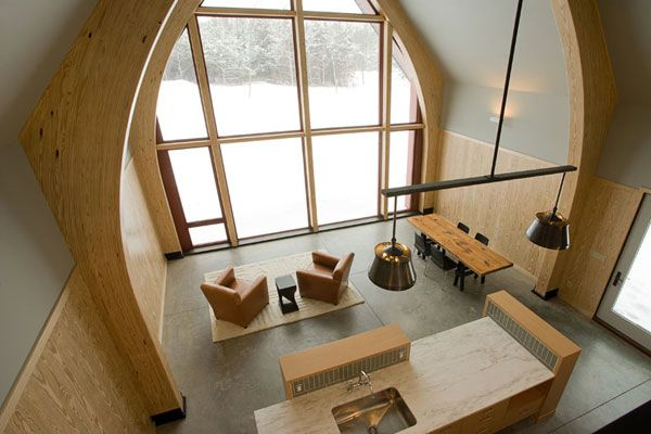 high tech residential interiors - The passive house- super energy - holz decke haus design bilder