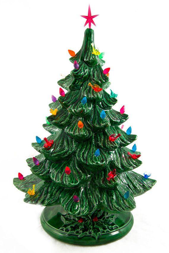 vintage ceramic christmas tree lights up by morningglorymoderne ceramic christmas trees mini christmas tree