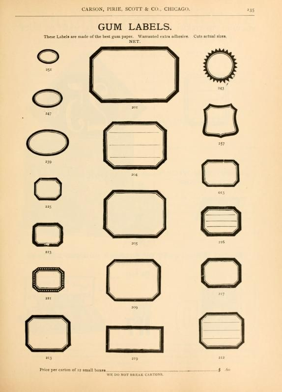 Illustrated Catalogue Of Staple And Fancy Notio Labels Vintage Labels Label Templates