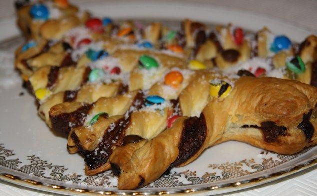 Sapin de Noël au nutella et aux bonbons