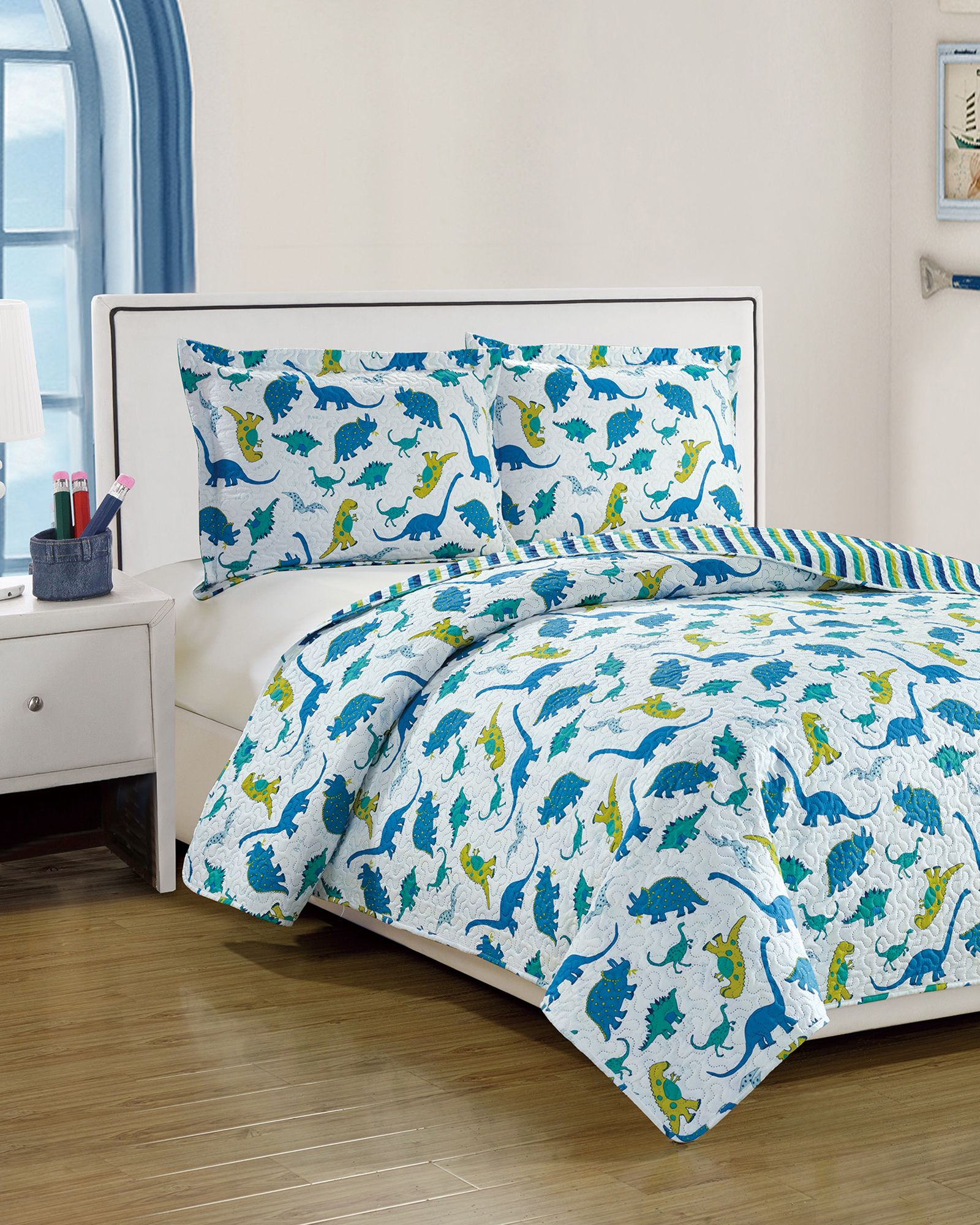 Dreamland Bedding Dinosaur Twin Quilt Set