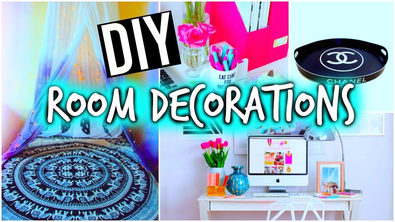 Diy Room Decorations Organization Youtube Tumblr Room Decor