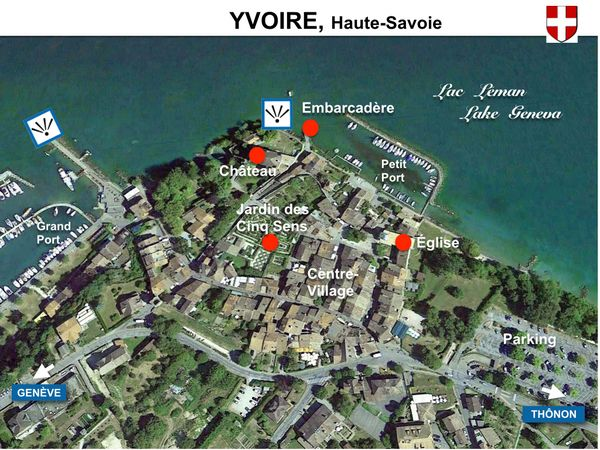 Map Of Yvoire France.Discover The Beautiful Medieval Village Of Yvoire France