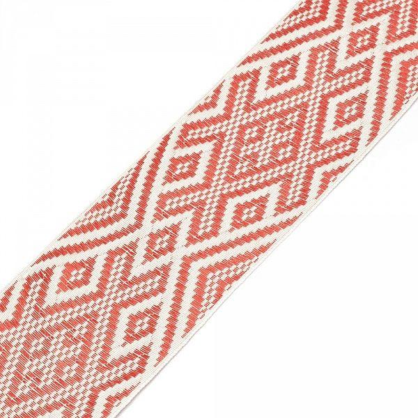 Лента отделочная жаккардовая арт.с1855г17 рис.9341 шир. 65мм цв. белый-красный в ассортименте