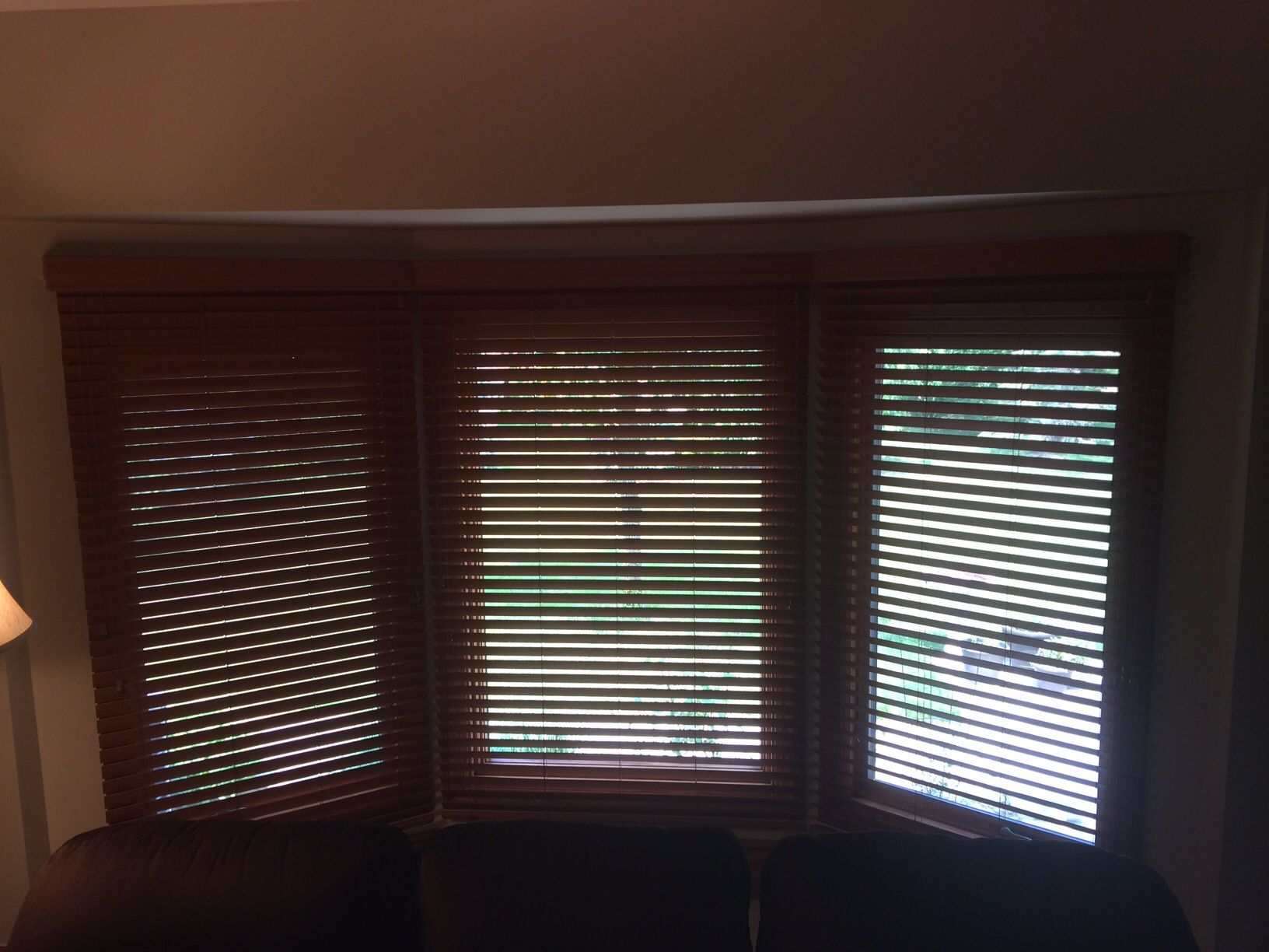 Routeless Paprika Faux Wood On Bay Window Application With