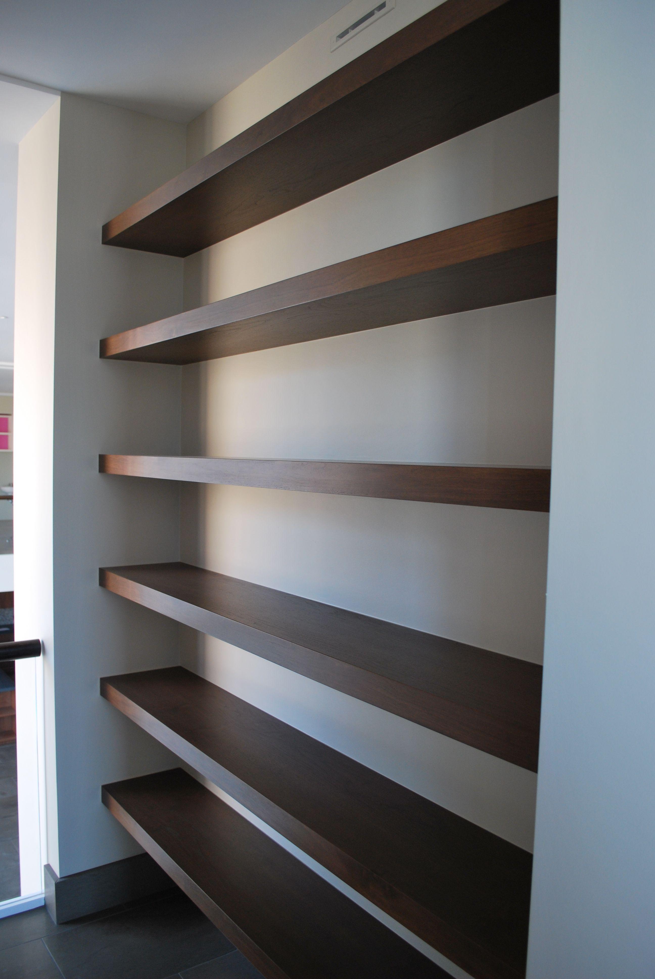 Built-In Walnut Shelving Unit. Basement ... & Built-In Walnut Shelving Unit | Interior Design //\\ Living Room ...