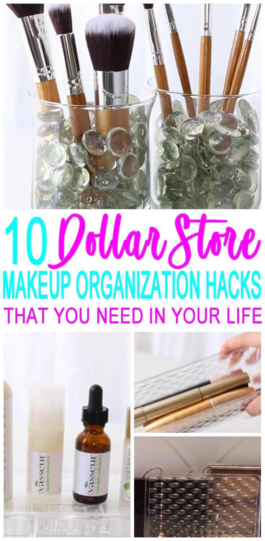 10 Dollar Store Makeup Organization Hacks That Are Borderline Genius images