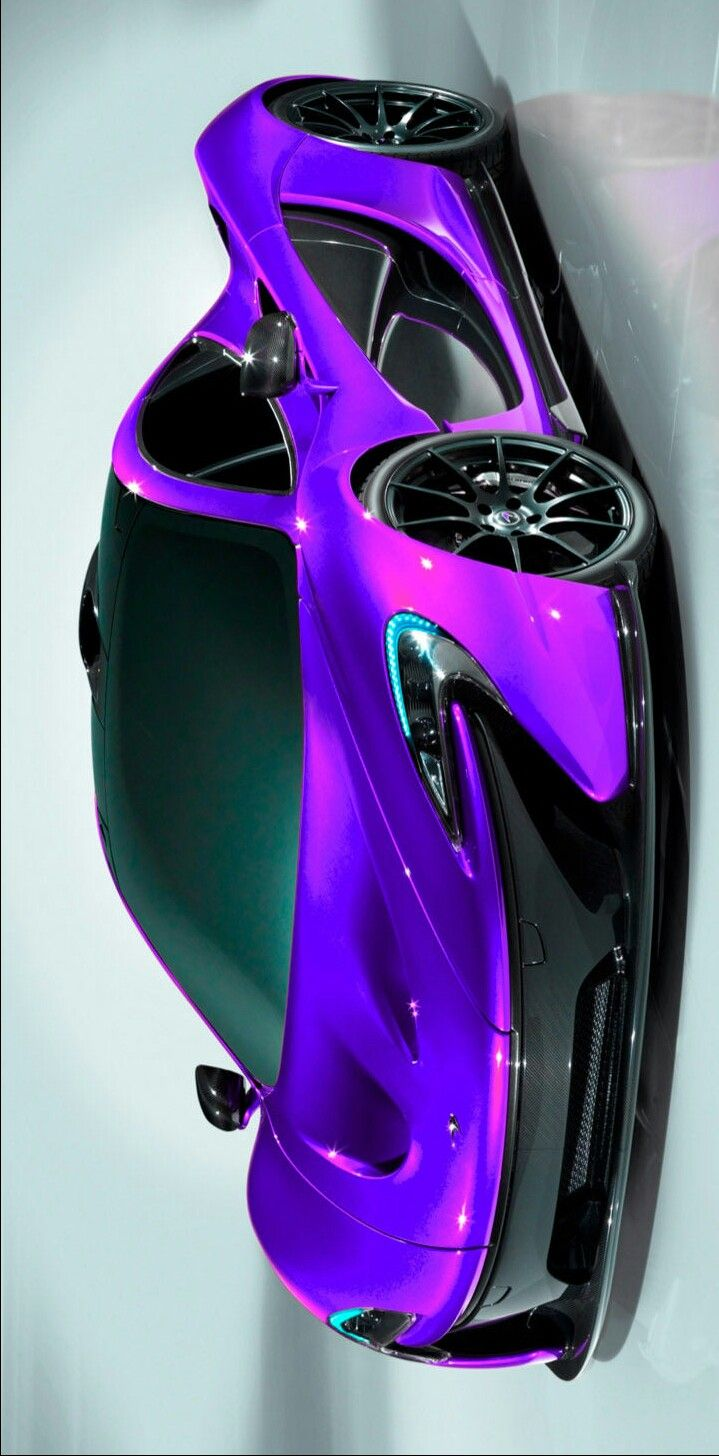Mclaren P1 Painted In Metallic Light Purple And Pearlescent Hot Pink