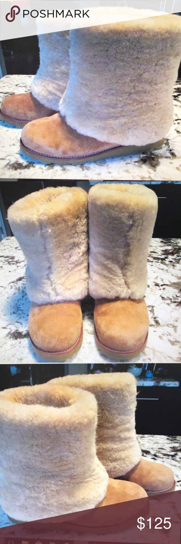 d6a61bfd5ad UGG Australia sz 7 PATTEN Bootie 3220 Chestnut EUC Authentic UGG ...