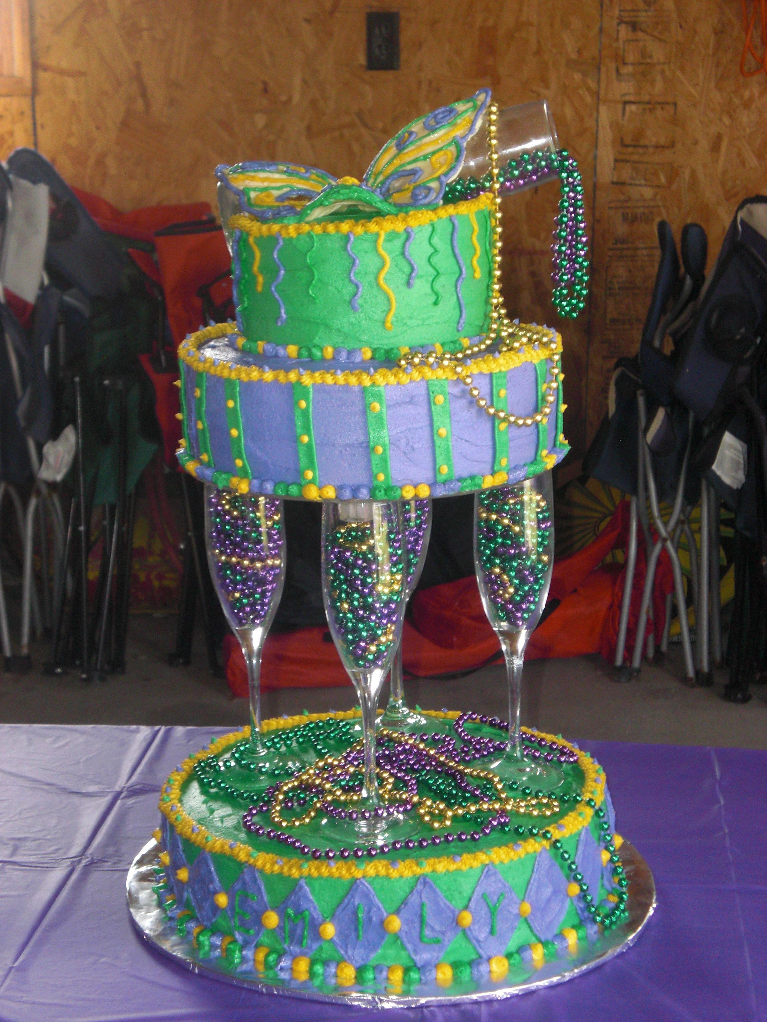 Mardi Gras Birthday Cake My Girlfriends Daughter Had A Mardi Gras