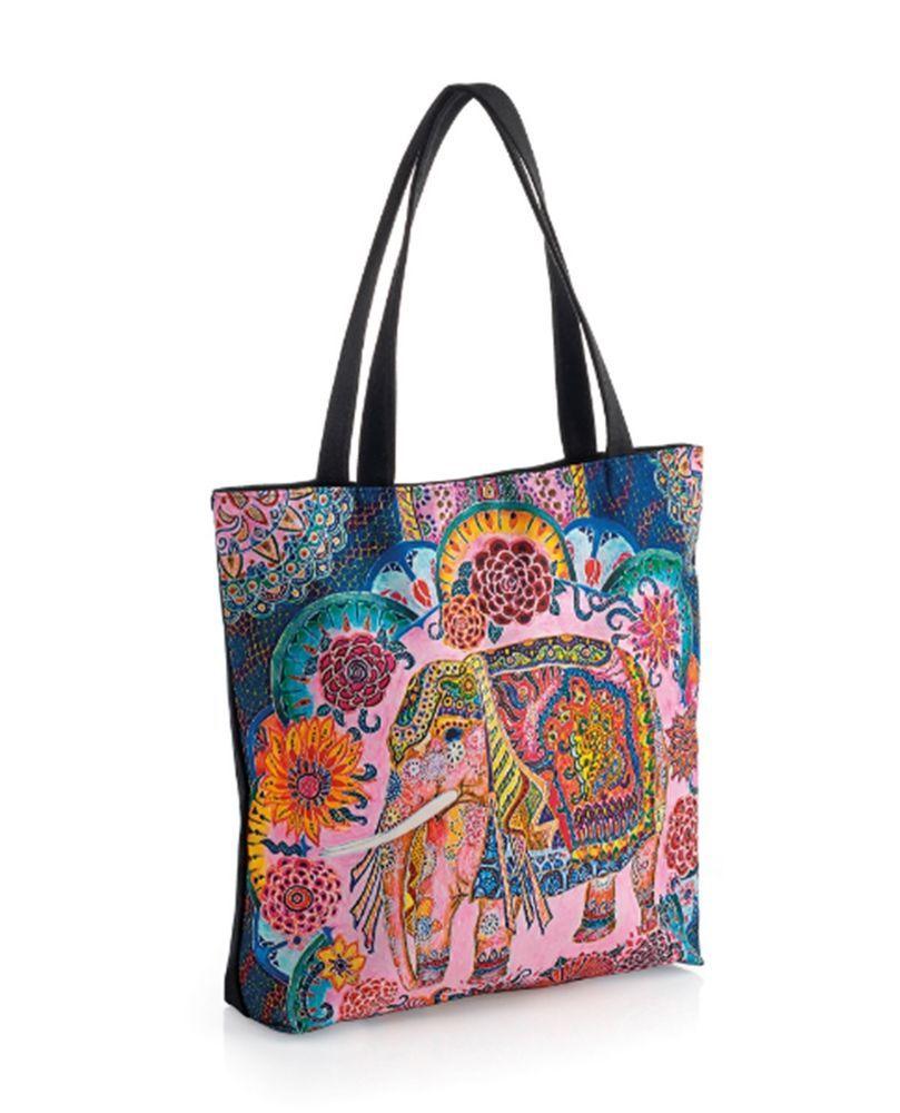 Pink And Blue Tone Per Handbag With Elephant Prom Uk Tones Fashion