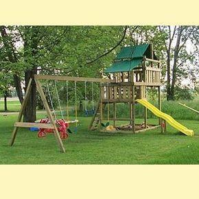 Adventurer Wooden Swing Sets / Fort Kits | Swing set plans ...