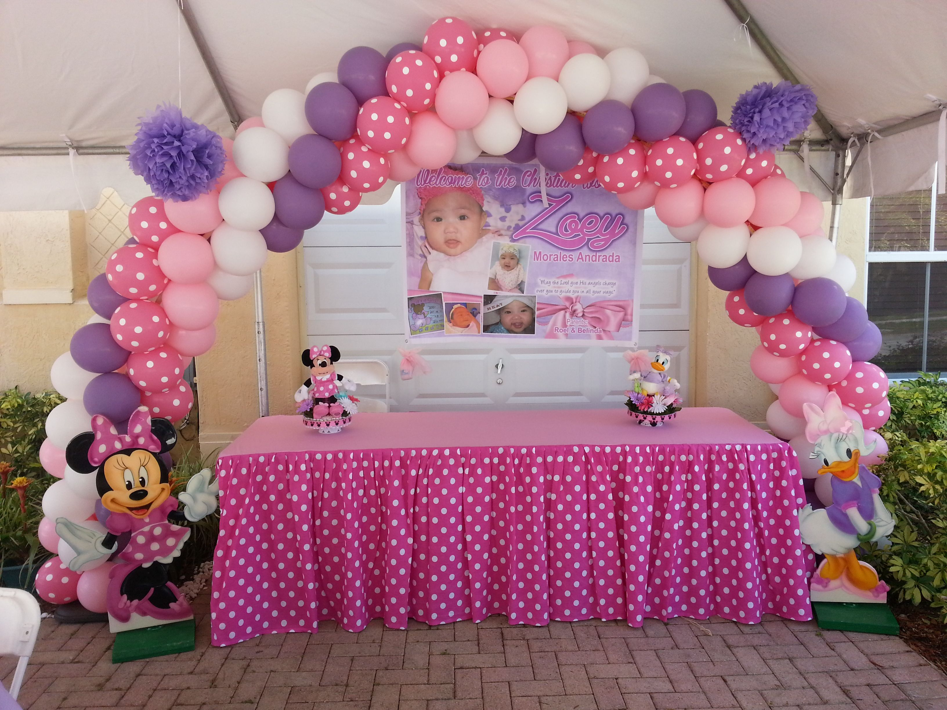 Pin By Four J Party On Minnie Mouse Birthday Party Rentals