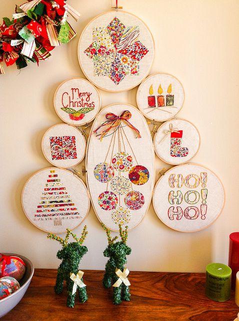 Embroidery Hoop Christmas Tree | Flickr: Intercambio de fotos