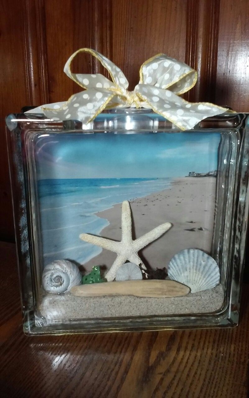 Glass cubes for crafts - Find This Pin And More On Diy Crafts Rexhame Beach Glass Block More