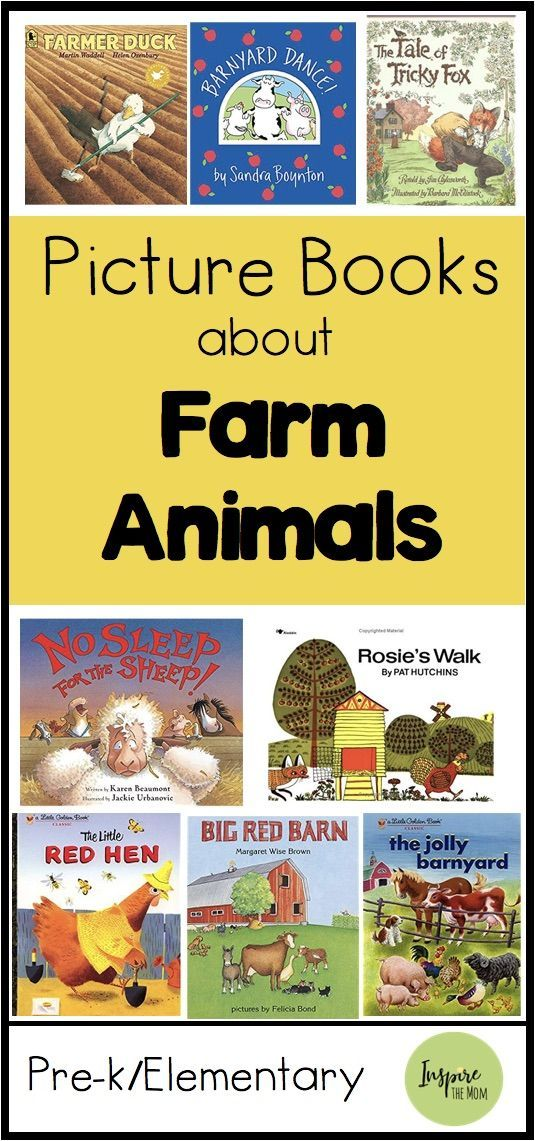 Picture Books About Farm Animals Here is a great list of Picture Books about farm animals!
