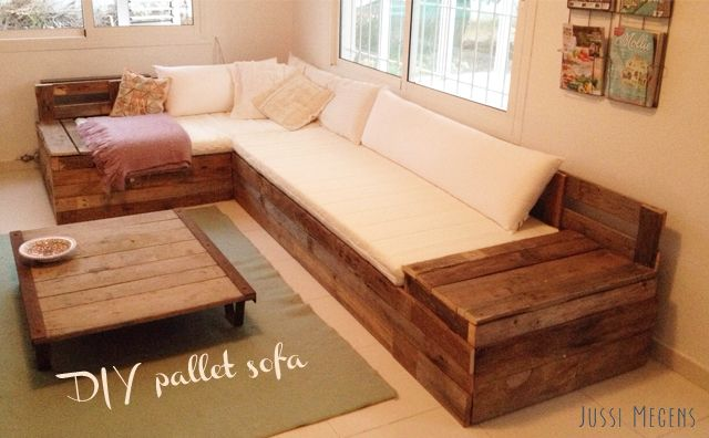 diy sofa van pallets bettina pinterest europaletten m bel ideen f rs zimmer und m bel aus. Black Bedroom Furniture Sets. Home Design Ideas