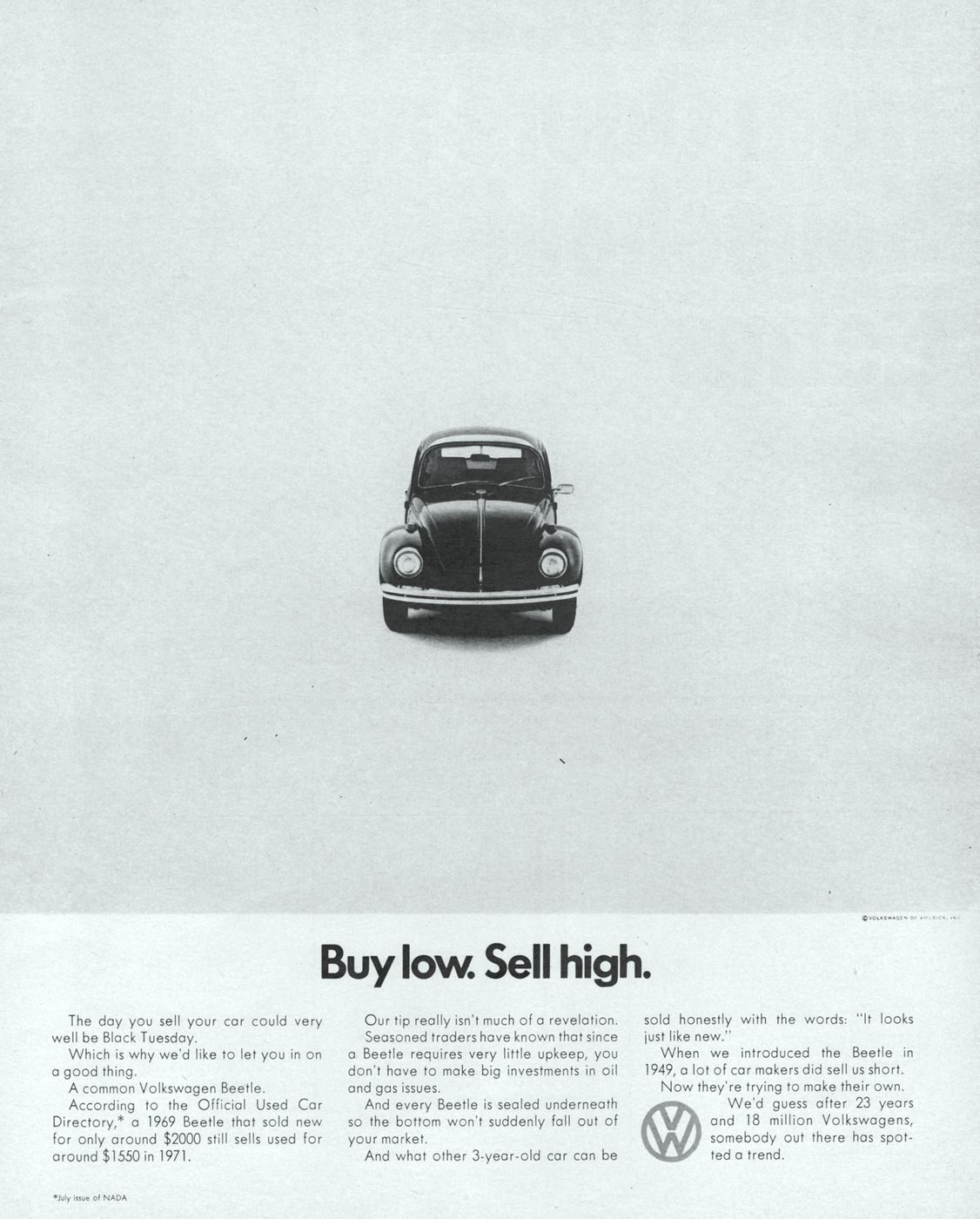 VW Beetle Used Car Value 1971 Ad Picture | volkswagen ad | Pinterest ...