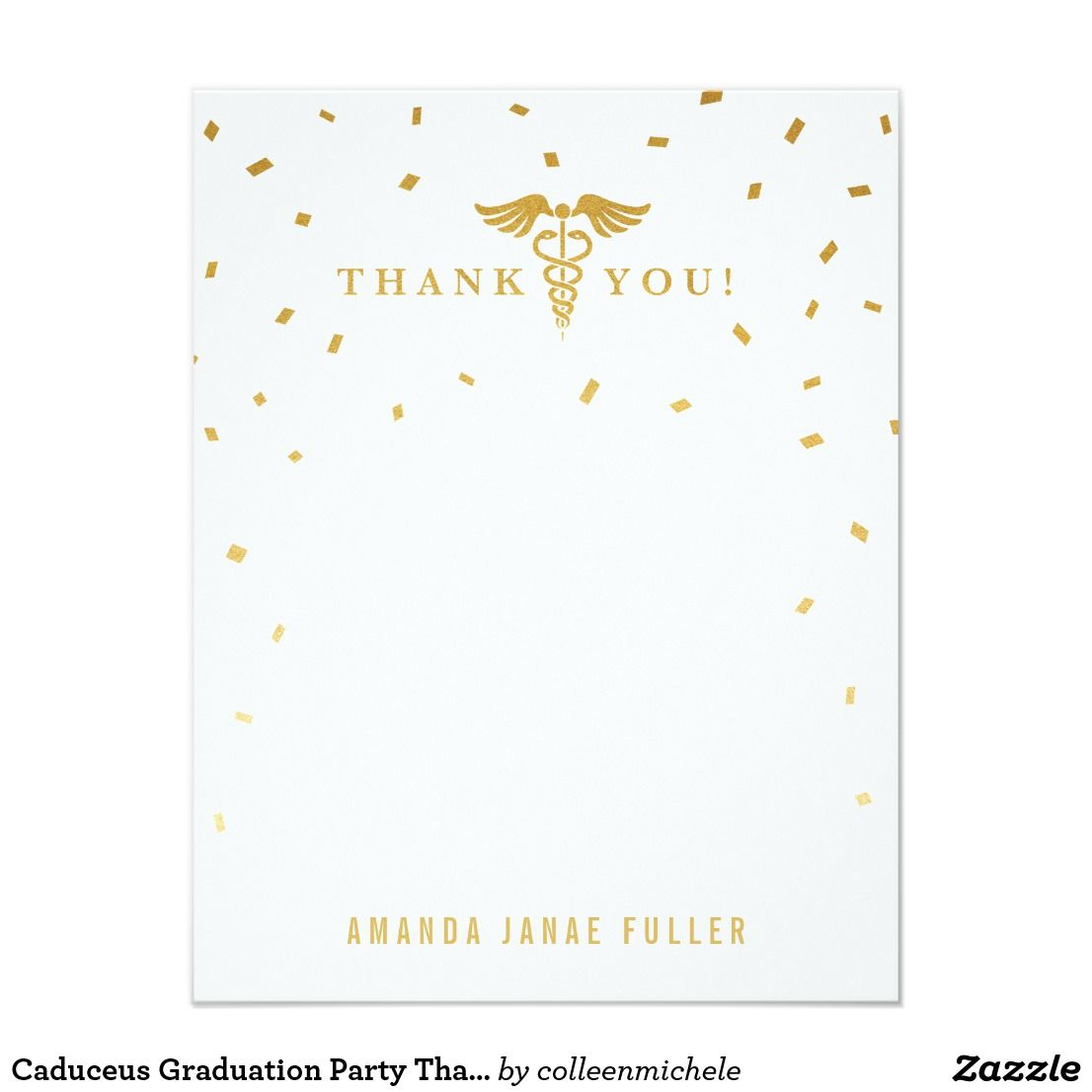 Caduceus Graduation Party Thank You Cards Zazzle Com Graduation Party Invitations Templates Graduation Party Invitations Printable Party Invite Template