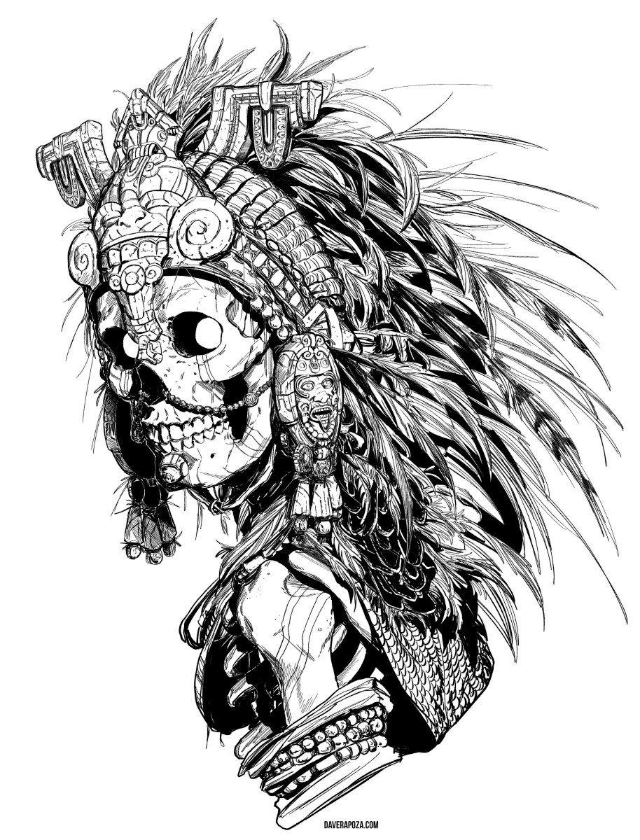 Dave Rapoza Daverapoza Twitter Mayan Art Aztec Art Mexican Art Tattoos