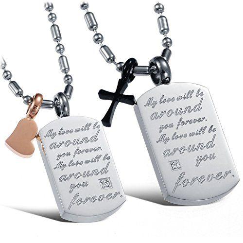 Mini Kreuz Anhänger silber Edelstahl Schmuck Kette Halskette mit Kugelkette