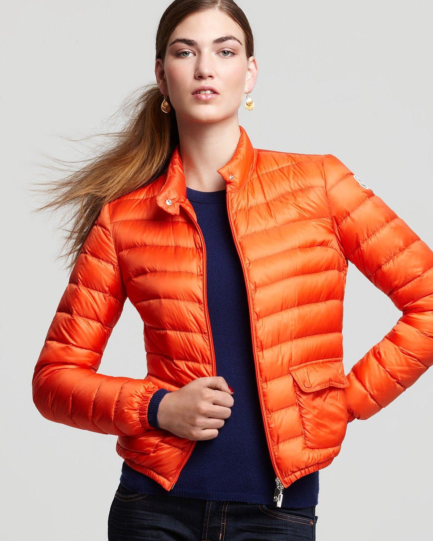2265ea90b797 Moncler Lans Short Puffer Jacket. Orange is my favorite color. Yum ...