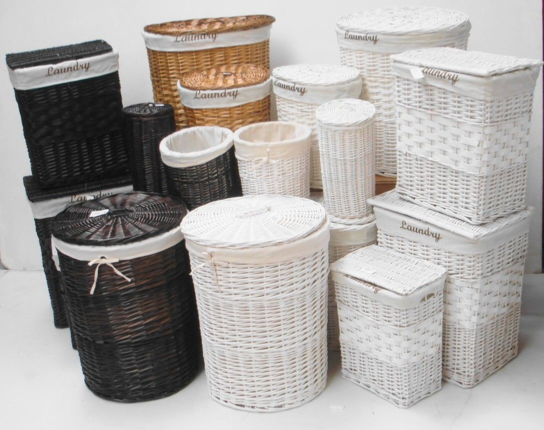 Wicker for The Bathroom White Black Brown Wicker Round Oval