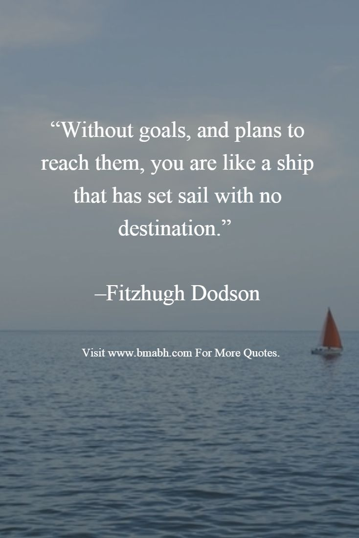 Ship Quotes Without Goals And Plans To Reach Them You Are Like A Ship That