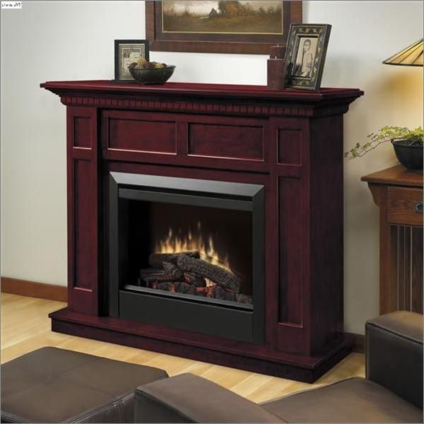 Cherry Finish Electric Fireplace Electric Fireplace