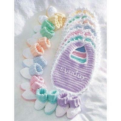Bib & Booties Baby Set: FREE crochet patterns | crochet/knitting ...
